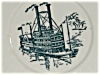Click to view larger image of Blue Currier and Ives Saucer (Image2)