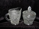 Click here to enlarge image and see more about item 41: Anchor Hocking Wexford Sugar and Creamer Set