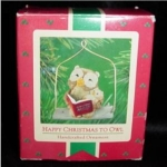 Click here to enlarge image and see more about item 41h: Happy Christmas to Owl Hallmark Ornament