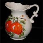 Click here to enlarge image and see more about item 424: Handpainted Japan Pitcher