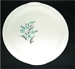 Platter with Blue Floral Design