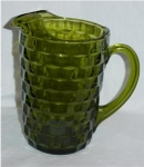 Click here to enlarge image and see more about item 431a: Green Cubist Iced Tea Pitcher