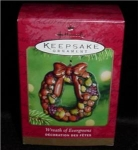 Wreath of Evergreens Hallmark Ornament