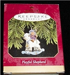 Click here to enlarge image and see more about item 448h: Playful Shepard Hallmark Ornament