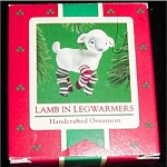 Lamb in Legwarmers Hallmark Ornament