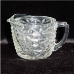 Click here to enlarge image and see more about item 469: Anchor Hocking Thousand Line Creamer