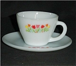 Click here to enlarge image and see more about item 469s: Fire King Tulip Cup and Saucer Set