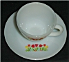 Click to view larger image of Fire King Tulip Cup and Saucer Set (Image2)