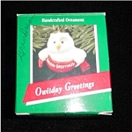 Click here to enlarge image and see more about item 474h: Owliday Greetings Hallmark Ornament