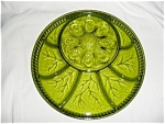 Click here to enlarge image and see more about item 474s: Indiana Glass Egg Plate