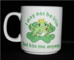 Click here to enlarge image and see more about item 485: Russ Frog Kiss Me  Mug