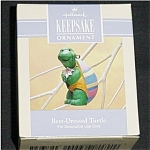 Click here to enlarge image and see more about item 486h: 1993 Best Dressed Turtle Hallmark Ornament