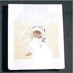 Click here to enlarge image and see more about item 487h: 1993 Springtime Bonnet Hallmark Ornament