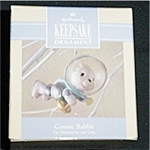 Click here to enlarge image and see more about item 489h: 1992 Cosmic Rabbit Hallmark Ornament