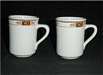 Click here to enlarge image and see more about item 492s: Syracuse China Coffee Cups Set of 2