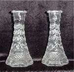 Click here to enlarge image and see more about item 494: Anchor Hocking Wexford Bud Vases