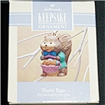 Click here to enlarge image and see more about item 494h: 1993 Nutty Eggs Hallmark Ornament
