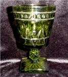 Click here to enlarge image and see more about item 496: Coloinal Park Lane Green Goblet