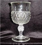 Click here to enlarge image and see more about item 498: Indiana Glass Diamond Point Water Goblet