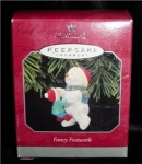 "Click here to enlarge image and see more about item 49h: Hallmark Ornament  ""Fancy Footwork"""