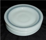 Click here to enlarge image and see more about item 502: Pyrex Saucer Set of 5