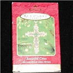2001 Beautiful Cross Hallmark Ornament