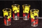 Click here to enlarge image and see more about item 513: Classic Car Drinking Glasses