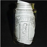 Click here to enlarge image and see more about item 513s: Planters Peanut's 75th Anniversary Jar
