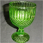 Click here to enlarge image and see more about item 521s: Green Ruffled Edge Compote