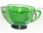 Click here to enlarge image and see more about item 527s: Anchor Hocking Green Cup