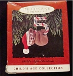 1993 Child's 5th Christmas Hallmark Ornament
