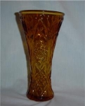 Click here to enlarge image and see more about item 545: Amber Flower Vase