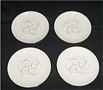 Click here to enlarge image and see more about item 549s: Homer Laughlin Capri Saucer Set of 4