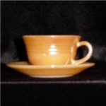 Fire King Copper Tint Cup and Saucer