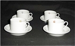 Fitz and Floyd Pastel Poppy Cup & Saucer Set