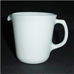 Click here to enlarge image and see more about item 566s: Pyrex White Creamer