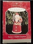 Click here to enlarge image and see more about item 576h: 1998 Santa's Hidden Surprise Ornament