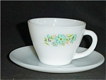 Fire King Carnation Coffee Cup and Saucer
