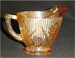 Click here to enlarge image and see more about item 579s: Jeannette Iris Herringbone Carnival Creamer