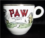 Click here to enlarge image and see more about item 580: Paw Coffee Mug