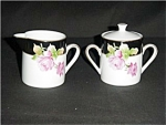 Click here to enlarge image and see more about item 590s: Lefton Sugar and Creamer Set