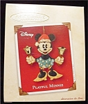 Click here to enlarge image and see more about item 591h: 2002 Playful Minnie Hallmark Ornament