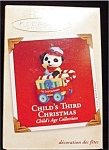 2002 Child's 3rd Christmas Hallmark Ornament