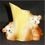 Click here to enlarge image and see more about item 597s: Bear Planter