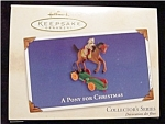 2002 A Pony for Christmas Hallmark Ornament