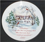 Click here to enlarge image and see more about item 602s: 1981 American Greetings Christmas Plate