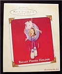 2002 Ballet Photo Holder Hallmark Ornament