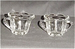 Click here to enlarge image and see more about item 605s: Scalloped Edge Glass Sugar and Creamer Set