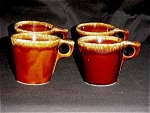 Click here to enlarge image and see more about item 607s: Hull Coffee Mugs Set of 4
