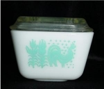 Click here to enlarge image and see more about item 613: Pyrex Amish Refrigerator Dish